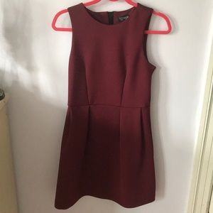 Top shop maroon dress